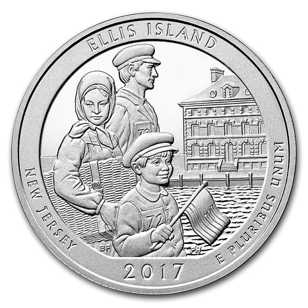 America the Beautiful 5 Ounce Silver - Ellis Island