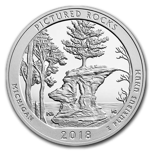 America the Beautiful - Pictured Rocks National Lakeshore 5 Ounce .999 Silver