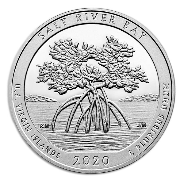 America the Beautiful - Salt River Bay National Historical Park 5 Ounce .999 Silver