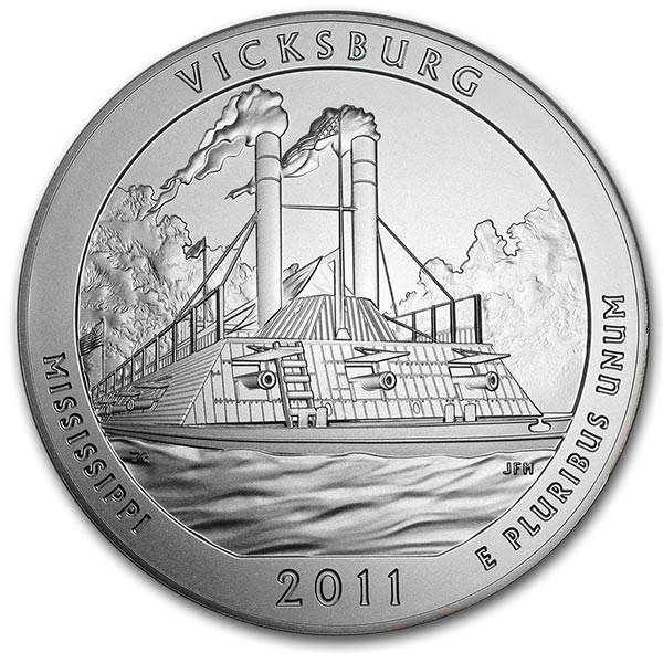 America the Beautiful - Vicksburg National Military Park 5 Ounce .999 Silver