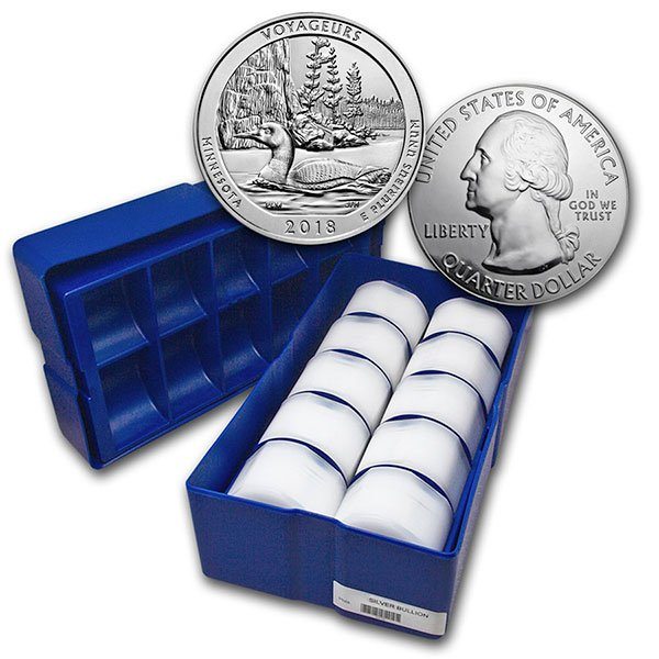 America the Beautiful -  Voyageurs National Park 5 Ounce .999 Silver thumbnail