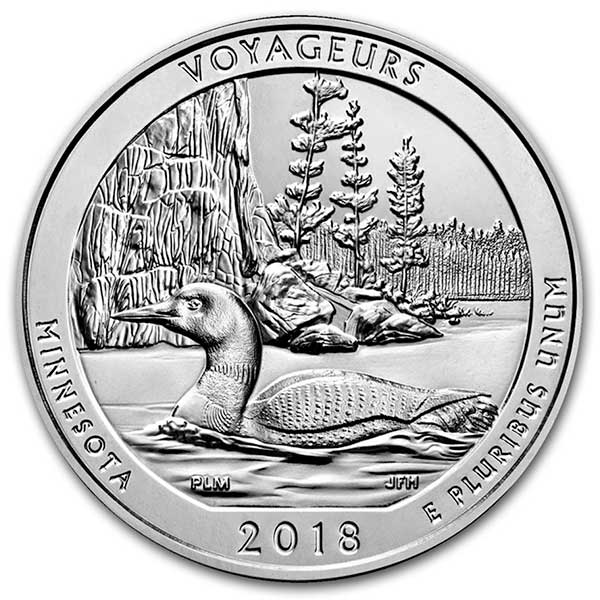America the Beautiful -  Voyageurs National Park 5 Ounce .999 Silver