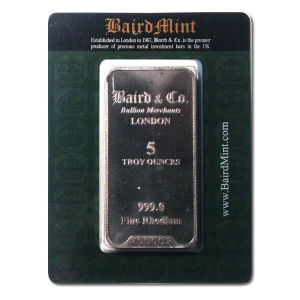 Rhodium Bar - 5 Ounce thumbnail