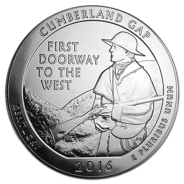 America the Beautiful - Cumberland Gap National Historical Park, 5 Ounce .999 Silver