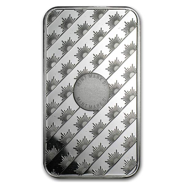 Sunshine Mint 5 Ounce Bar, .999 Pure Silver thumbnail