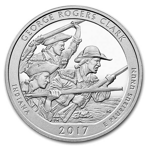 America the Beautiful 5 Ounce Silver - George Rogers Clark National Park