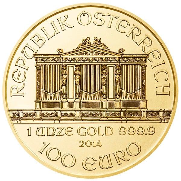 1 Oz Austrian Philharmonic Gold Coins thumbnail