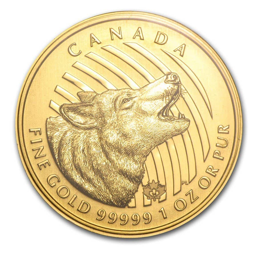 Canadian Howling Wolf - 1 Troy Oz .99999 Pure Gold