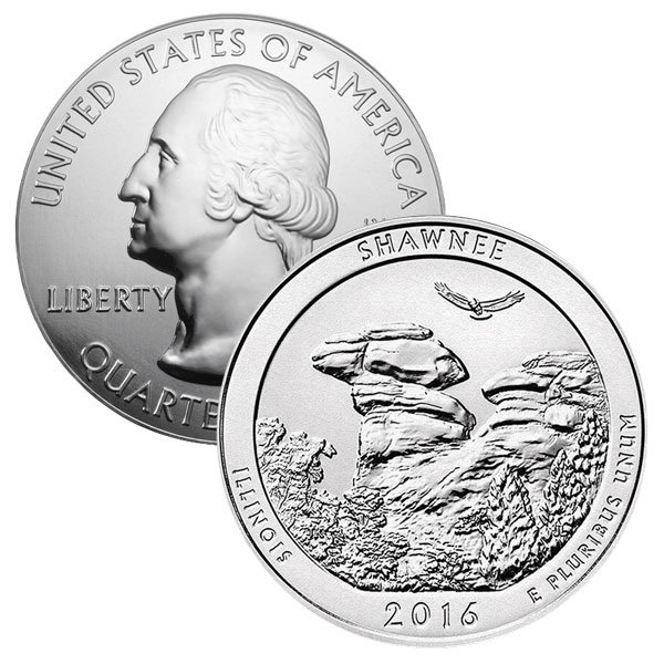 America the Beautiful - Shawnee National Forest 5 Ounce .999 Silver thumbnail