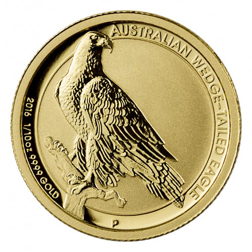 1/10 Ounce Perth Mint Gold Australian Coin, .9999 Pure thumbnail