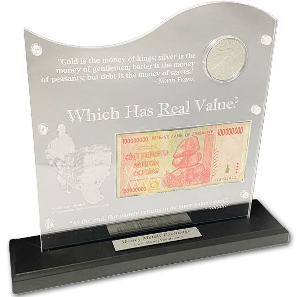 Silver Versus Zimbabwe Dollar Display