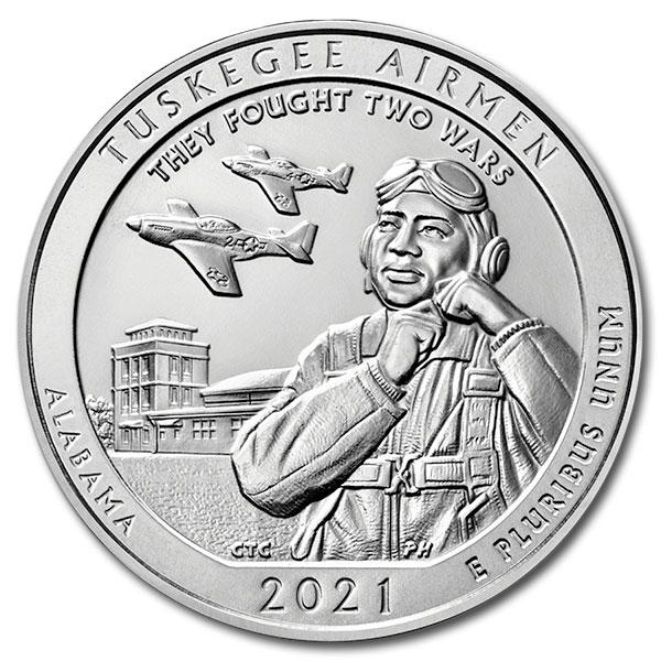 America the Beautiful - Tuskegee Airmen National Historic Site 5 Ounce .999 Silver
