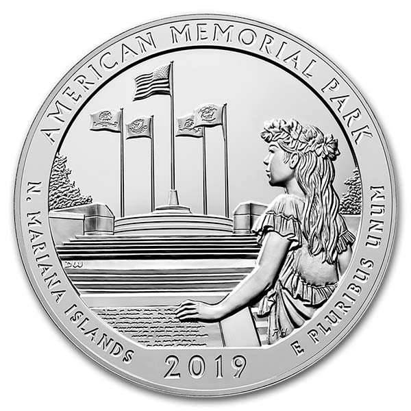America the Beautiful - American Memorial Park 5 Ounce .999 Silver