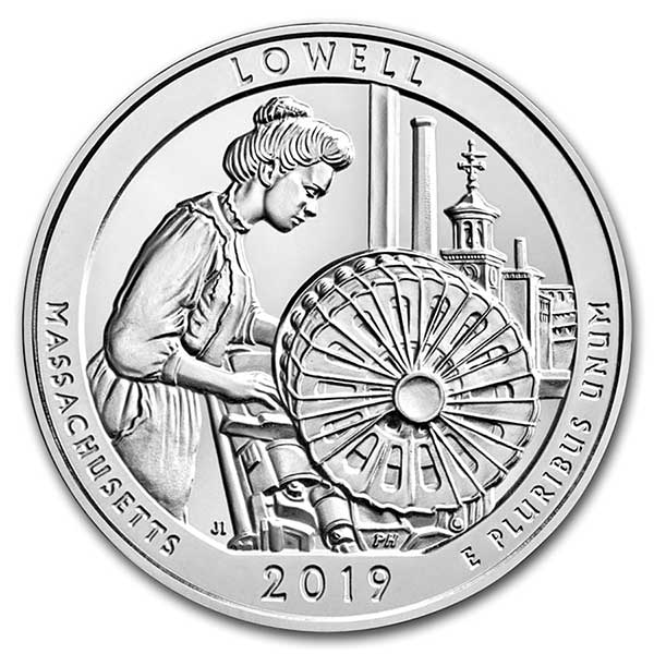 America the Beautiful - Lowell National Historical Park 5 Ounce .999 Silver