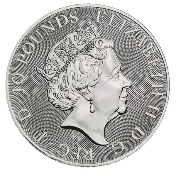 British Royal Mint Valiant - 10 Oz Coin, .9999 Pure Silver thumbnail