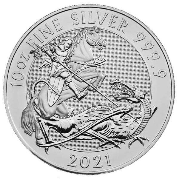 British Royal Mint Valiant - 10 Oz Coin, .9999 Pure Silver