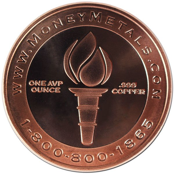 Don't Tread On Me 1 Oz Copper Rounds thumbnail