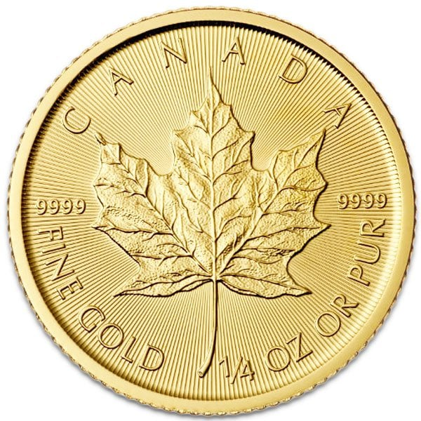 1 4 Oz Gold Canadian Maple Leaf Coin