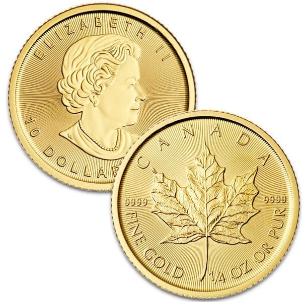 1/4 Oz Canadian Maple Leaf Gold Coins thumbnail