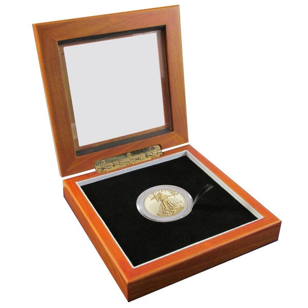 Guardhouse Glass Top Display Box - Single Coin thumbnail