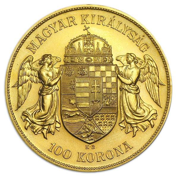Austrian / Hungarian 100 Corona / Korona - .9802 Ounces Gold thumbnail