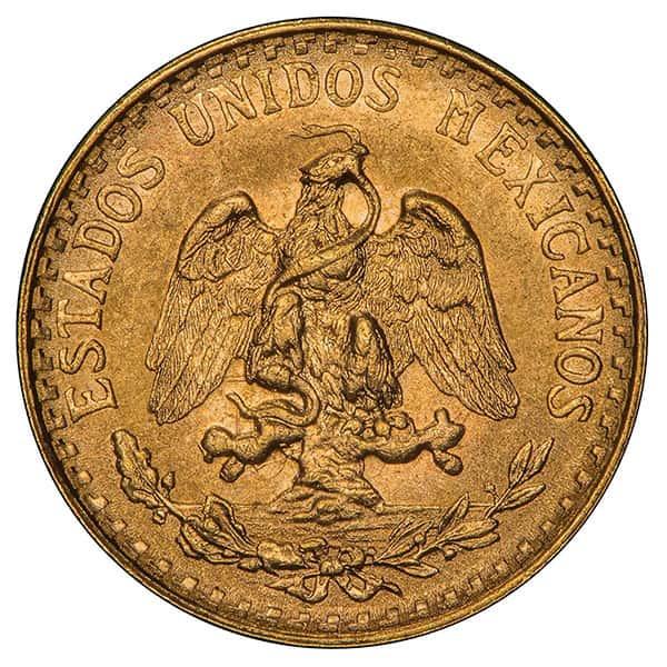 Mexican 2 Peso, 0.0482 Ounces Gold Content