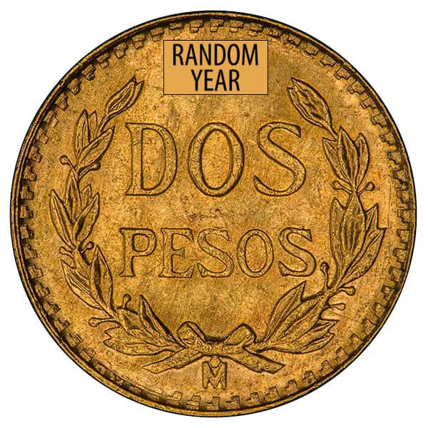 Mexican 2 Peso, 0.0482 Ounces Gold Content thumbnail