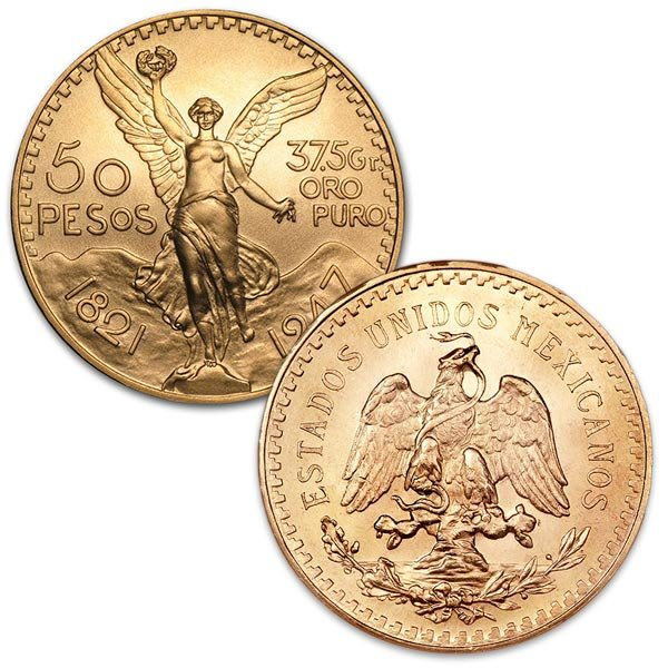 Mexican 50 Peso Gold Coin thumbnail