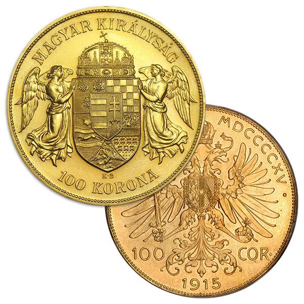 Austrian / Hungarian 100 Corona / Korona - .9802 Ounces Gold