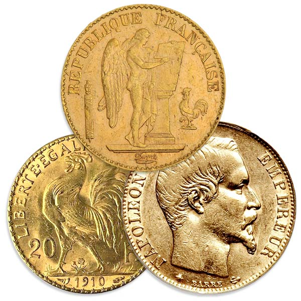 French 20 Franc Gold, Rooster/Napoleon, .1867 Ounce Gold Coin