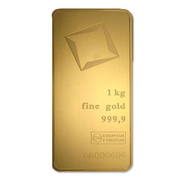 Gold 1 Kilo Bar, 32.15 oz, .9999 Pure thumbnail