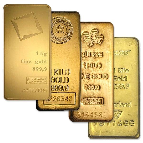 Gold 1 Kilo Bar, 32.15 oz, .9999 Pure