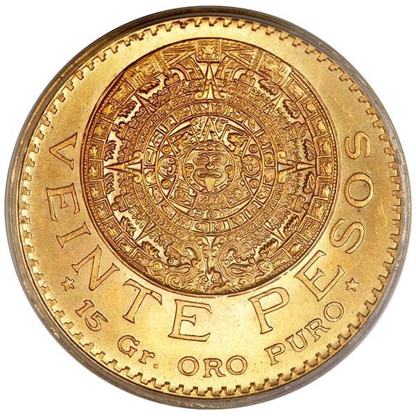Mexican 20 Peso, .4823 Ounces Gold Content