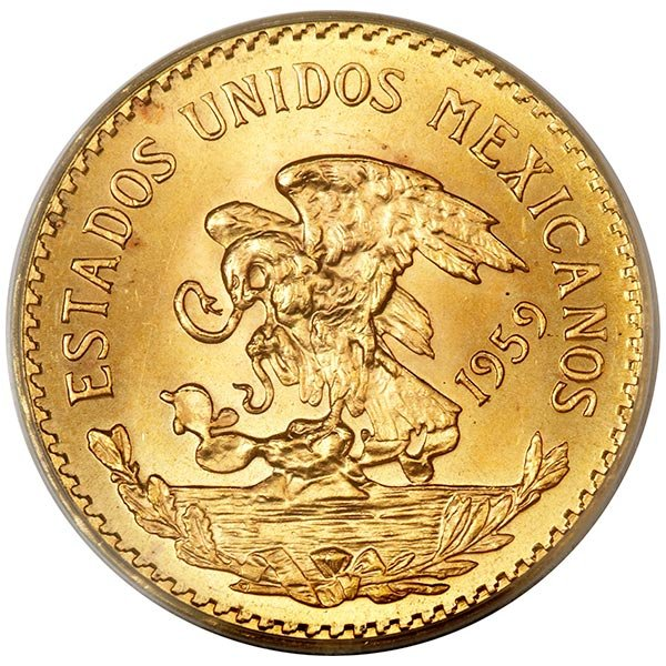 Mexican 20 Peso, .4823 Ounces Gold Content thumbnail