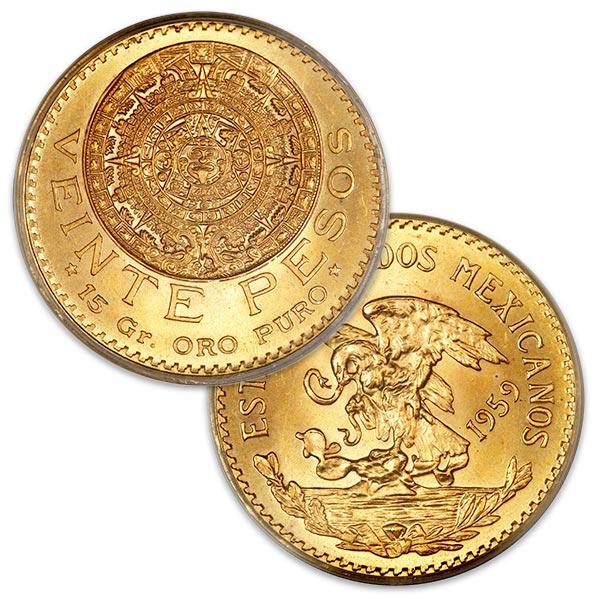 Mexican 20 Peso, .4823 Ounces Gold Content thumbnail