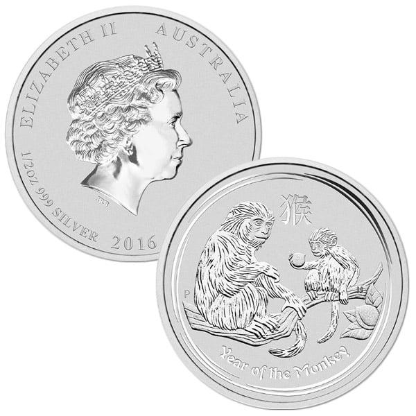 HALF OUNCE Silver Coin - .999 Pure, Random Design thumbnail