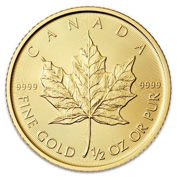 1 2 Oz Canadian Gold Maple Leaf Coins