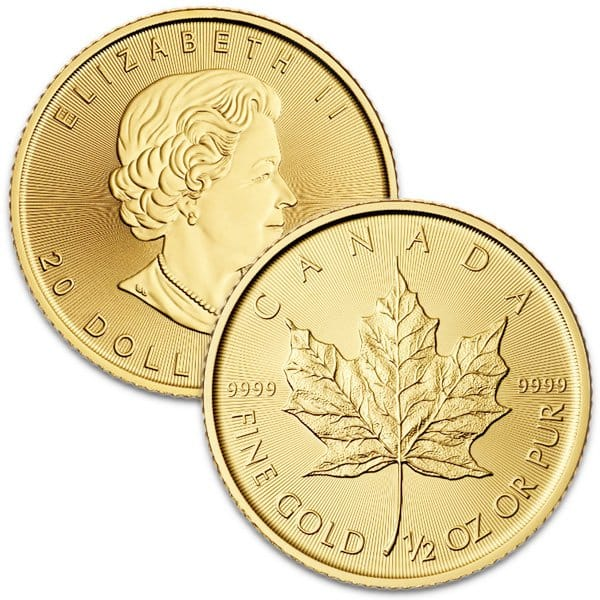 1/2 Oz Canadian Maple Leaf Gold Coins thumbnail