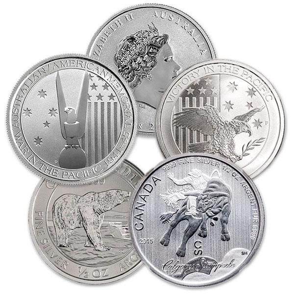 HALF OUNCE Silver Coin - .999 Pure, Random Design