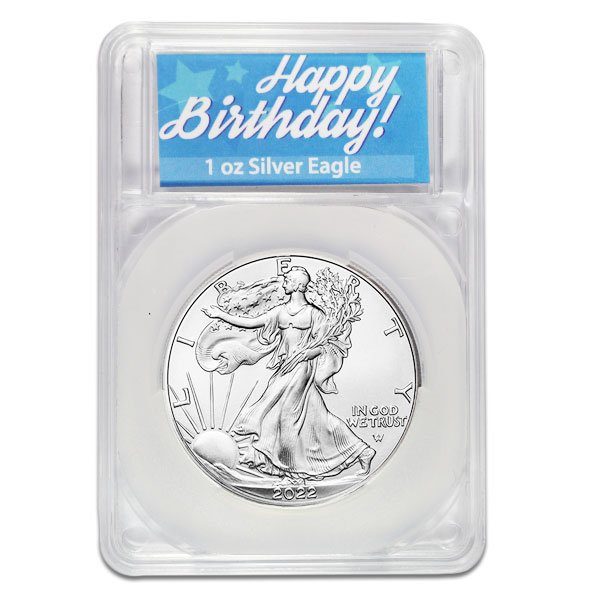 American Silver Eagle - In Happy Birthday Capsule
