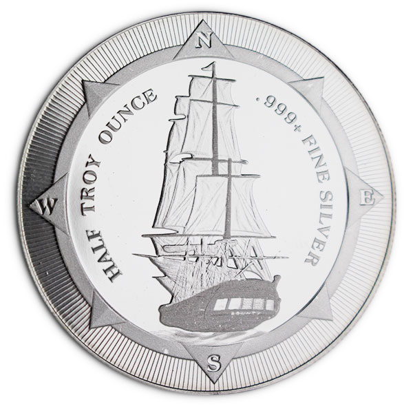 New Zealand Mint's HMS Bounty - HALF Oz Silver Coin