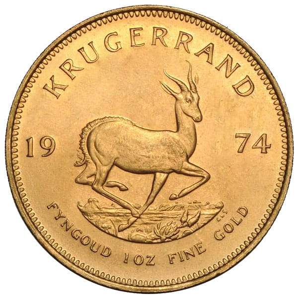 1 Oz South African Gold Krugerrand Coins Thumbnail