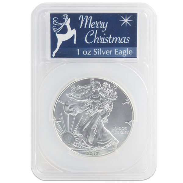 Silver American Eagle - In Merry Christmas Capsule