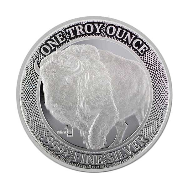 MintID Buffalo Silver Round - 1 Troy Ounce, .999 Pure thumbnail