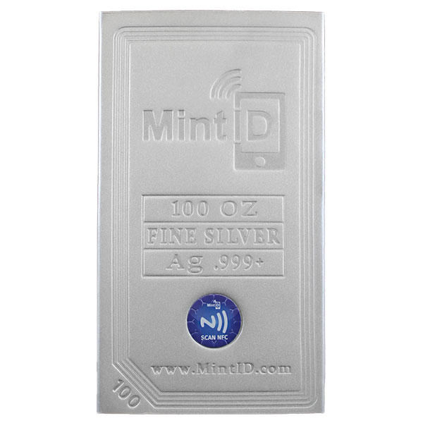 MintID Silver Bar - 100 Ounce .999 Pure