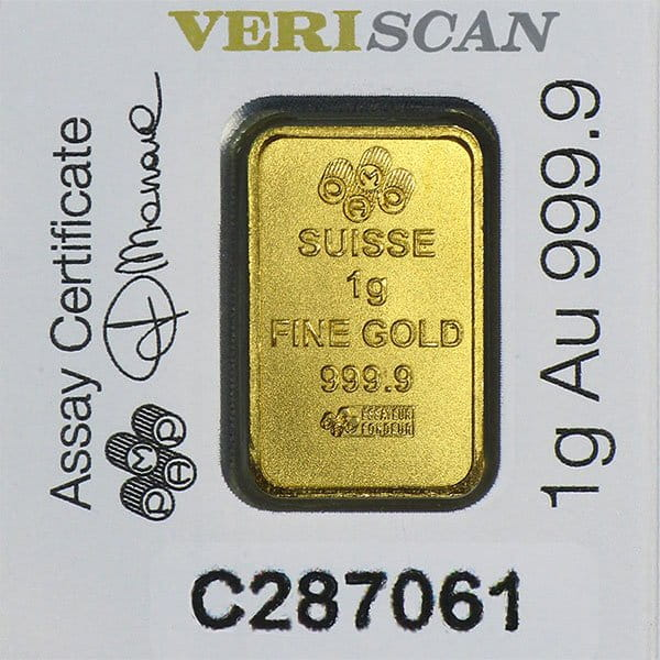PAMP Multigram+25 Gold Bars - Qty 25 1g Bars thumbnail