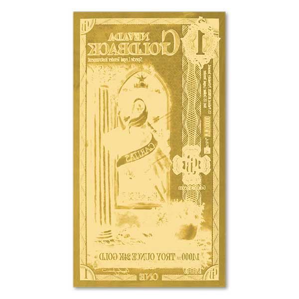1 Nevada Goldback - Caritas, 1/1000th Troy Oz 24k Gold Bullion thumbnail