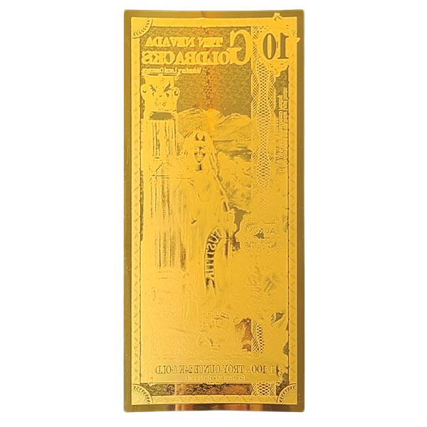 10 Nevada Goldback - Justitia, 1/100th Troy Oz 24k Gold Bullion thumbnail