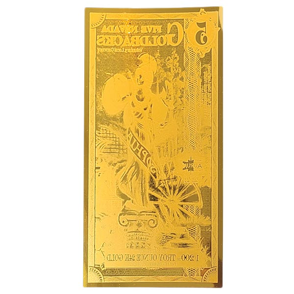 5 Nevada Goldback - Sophia, 1/200th Troy Oz 24k Gold Bullion thumbnail