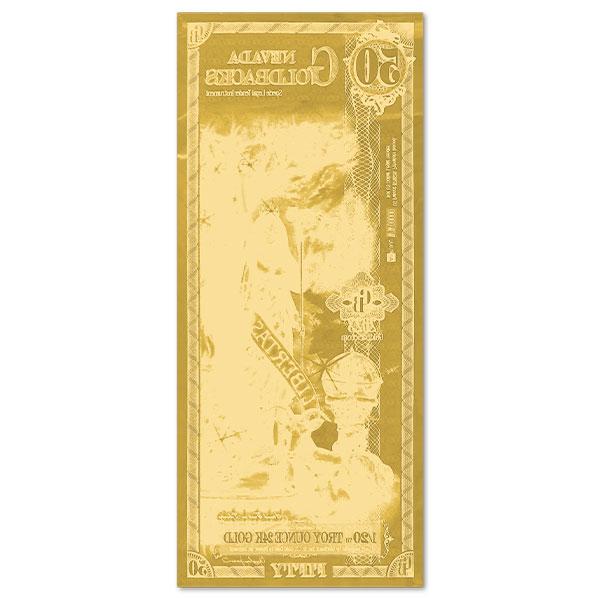 50 Nevada Goldback - Libertas, 1/20th Troy Oz 24k Gold Bullion thumbnail